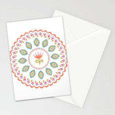 Suzani inspired floral 3 Stationery Cards