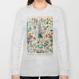 Adolphe Millot - Fleurs B - French vintage poster Long Sleeve T-shirt