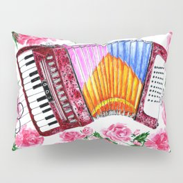 Accordion with pink roses Pillow Sham