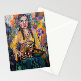 Self-Portrait with Fawn Stationery Cards