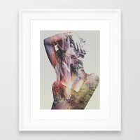 andreas preis Framed Art Prints featuring Wilderness Heart by Andreas Lie