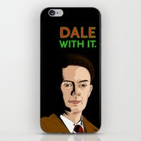dale cooper iPhone & iPod Skins featuring DALE WITH IT. by Chris Piascik