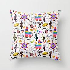 Fiesta Mexicana Throw Pillow