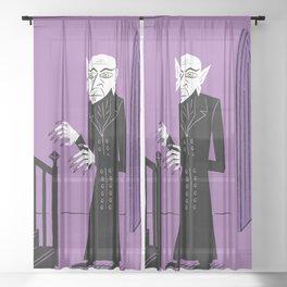 The Halloween Series - Nosferatu - Purple version Sheer Curtain