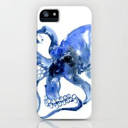 Navy Blue Octopus Artwork iPhone Case