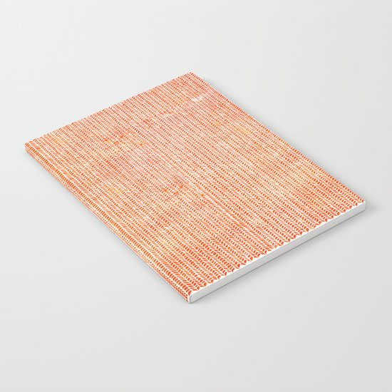 Stockinette Orange Notebook