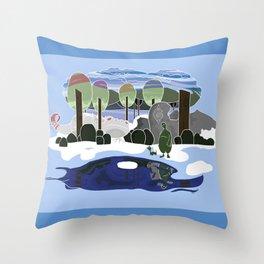 Forest Dream Throw Pillow