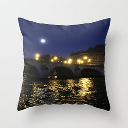 Paris, France - Seine Throw Pillow