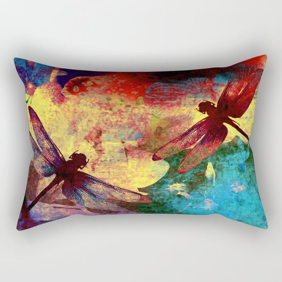 Dragonflies Rectangular Pillow
