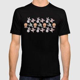 sticker monster pattern 6 T-shirt