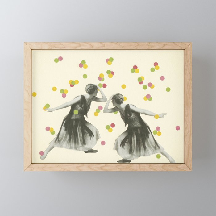Dance : Gemini Framed Mini Art Print