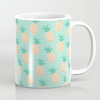 pineapple Mugs featuring Pineapple   by Sibylline