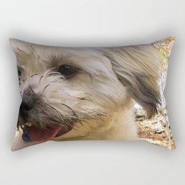 dirty puppy Rectangular Pillow