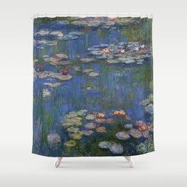 WATER LILIES - CLAUDE MONET Shower Curtain