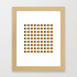Flag of belgium 7 belgian,belge,belgique,bruxelles,Tintin,Simenon,Europe,Charleroi,Anvers,Maeterlinc Framed Art Print