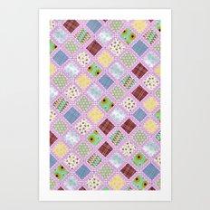 Granny's Blanket Art Print