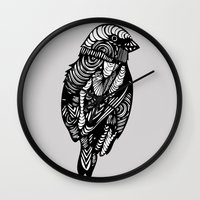 sparrow Wall Clocks featuring Sparrow by amyrose