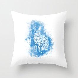 Savannah Cat No2 wb Throw Pillow