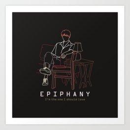 BTS JIN EPIPHANY LINE ART Art Print