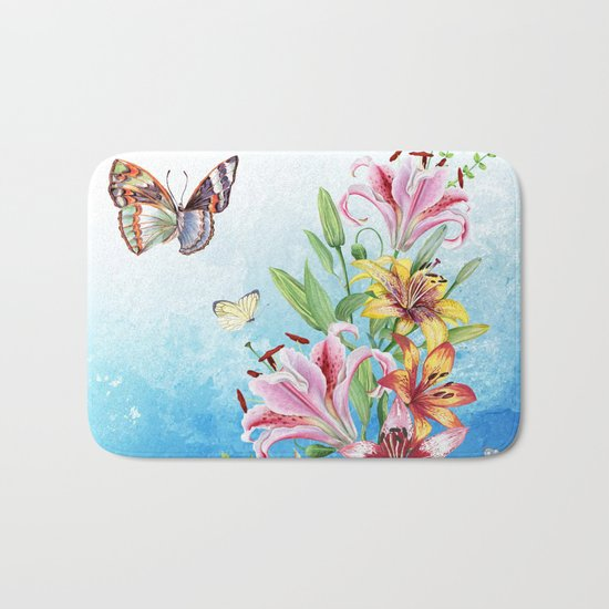 Flowers bouquet #19 Bath Mat