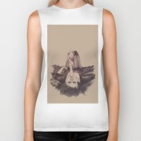smoke Biker Tanks featuring smoke by Andreea Red