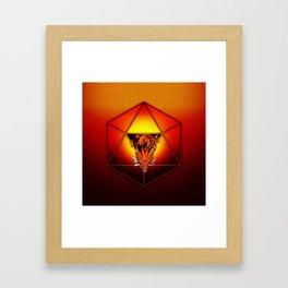 d20 Lucky Dragon Framed Art Print