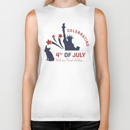 Celebrating 4th of July with my French Bulldog Biker Tank