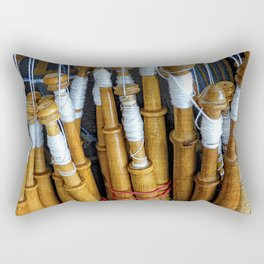 Bolillos or Lace Spindles Rectangular Pillow