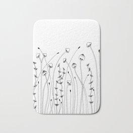 Forest of Mushrooms Doodle Art Bath Mat