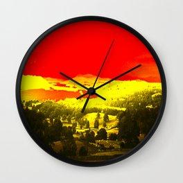Digitally Altered Photo of Lake Windermere Wall Clock