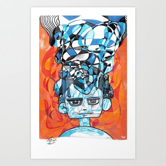 Denial process Art Print