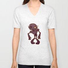Rusty Zombie Robot Unisex V-Neck