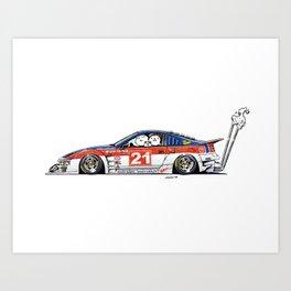 Crazy Car Art 0226 Art Print