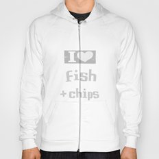 I ♥ Fish and Chips - Gray Hoody