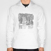 vermont Hoodies featuring Vermont Round Barn, Waitsfield Vermont by Vermont Greetings