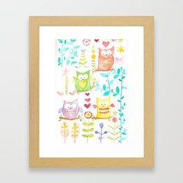 happy owl day Framed Art Print