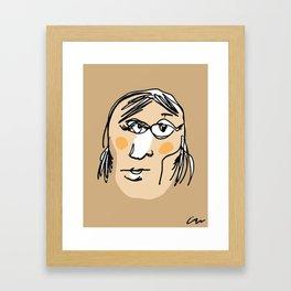 Blindfolded Portrait #3 Framed Art Print