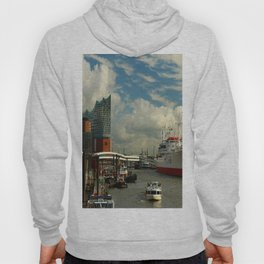 Elbharmonie With Harbor Scene Hoody