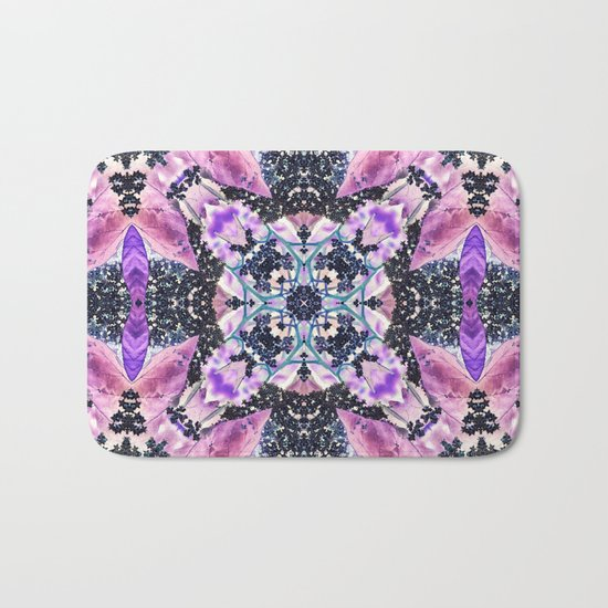 Kaleidoscope of night flowers Bath Mat
