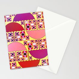 Camera and umbrella- pattern Stationery Cards
