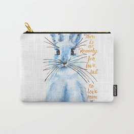 Blue Bunny Carry-All Pouch