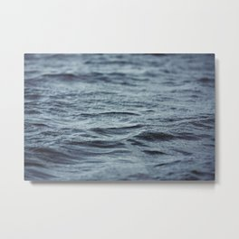 Carved Waves Metal Print