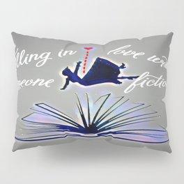 Falling Fiction (fem) - Blue Pillow Sham