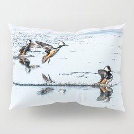 Hooded Megansers Landing Pillow Sham