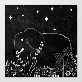 Elephant and Stars Canvas Print