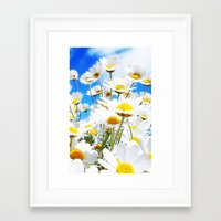 daisy Framed Art Prints featuring DAISY by Ylenia Pizzetti
