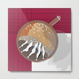 excited coffee Metal Print