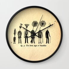 The Seven Ages of Mandelion Wall Clock
