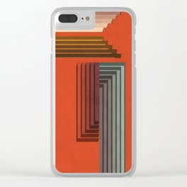 Stepped Retro Color Clear iPhone Case