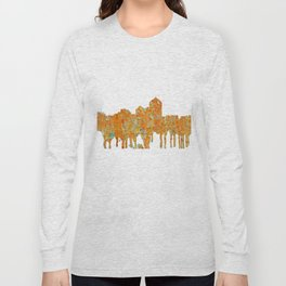 Albuquerque, New Mexico Skyline - Rust Long Sleeve T-shirt